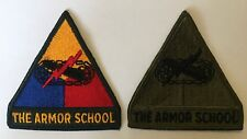 US Army - THE ARMOR SCHOOL - Shoulder Patches Armour Armoured Armored Insignia