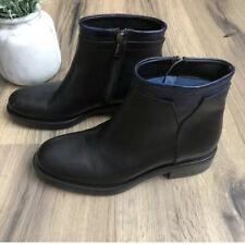 NEW TIFFI $289 Black Italian Leather Ankle Boot Women's Size 36 Bootie Side Zip