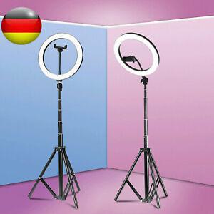 26cm LED Ringleuchte Dimmbar Ringlicht für Live YouTube Makeup mit  Handy Stativ