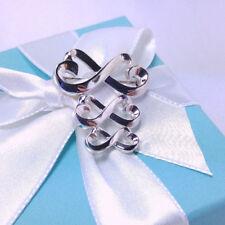 Heart Pin Brooch Sterling Silver 925 Tiffany & Co Paloma Graduated Double Loving