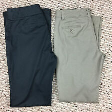 "Lot of 2 BANANA REPUBLIC ""Martin Fit"" Stretch Trousers Pants - Size 4/4 Long EUC"