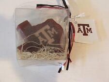 New Texas A&M Aggie Oatmeal Milk Honey Glycerin Soaps 3 Texas Shaped ATM Logo