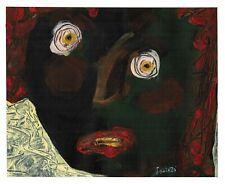 BLACKFACE original abstract/folk/outsider? mixed media painting Swinton Canadian