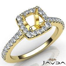 Diamond Engagement Round Semi Mount Prong Setting Ring 18k Yellow Gold 0.50Ct