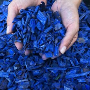 Bark Mulch & Wood Chips Blue Colour 1/2litre(0.1gallon)Decorative
