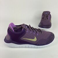 Nike Free RN Youth Size 5Y Violet w/ Gold Running Jogging Athletic Comfort Shoes