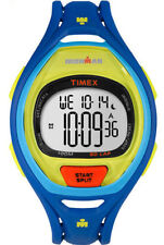 Timex TW5M01600, Men's 50-Lap Ironman Blue Resin Watch, Indiglo, Chronograph