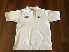 Vintage Benetton Formula 1 Racing FedEx White Polo Large Shirt VTG