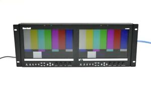 "Marshall V-MD902 Dual 9"" LCD Rack Mount Monitor 1280 x 768"