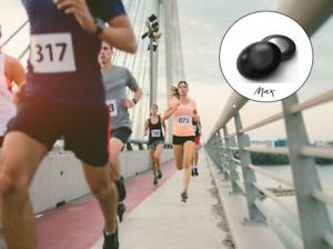 Running Marathon Race Bib Number Magnets - Set of 4 - Six Colours - Present Gift
