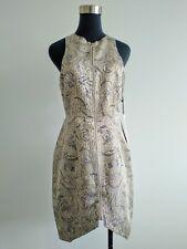 BNWT New Shona Joy Gold paisley Crystal Shards Bodycon party Dress AU 10 US 6