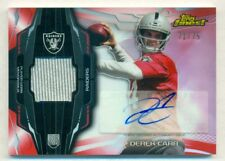 2014 Topps Finest Red Refractor Rc Auto Jsy Derek Carr Serial # 71/75
