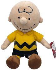 "Charlie Brown plush 15"" Kohls Cares Peanuts stuffed animal yellow shirt NWT NEW"