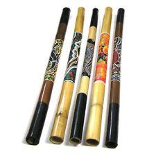 Bambus Didgeridoo Aborigini Holz Instrument bemalt geschnitzt fair Dot Painting