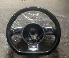Audi S3 8P Mk 2 Leather Multifunction Steering Wheel. With Silver Stitching