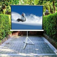 100 Inch 43 Hd Projector Screen Tripod Stand Matte Pull Up Projection Screens
