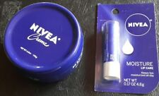 Nivea creme 6.8 oz and moisture lip care .17 oz