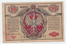 POLAND 10 MAREK 1917 VF Pick 12