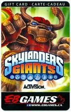 EB GAMES SKYLANDERS COLLECTIBLE Gift Card New No value RECHARGEABLE