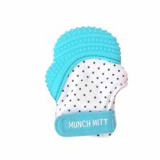 Malarkey Kids Munch Mitt Teething Mitten Aqua Blue for 3-12 Months