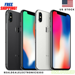 Apple iPhone X| 64/256GB| Factory Unlocked Smartphone - GRADE A