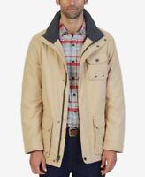Nautica Multi-Pocket Parka Jacket Sandy Bar Mens Size Large New