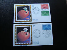FRANCE (timbre service) - 2 enveloppes 1er jour 31/8/1985 (cy6) french
