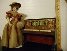 VICTORIAN WOOD PIANO ACCESSORY for ANTIQUE FRENCH FASHION BISQUE MIGNONETTE DOLL