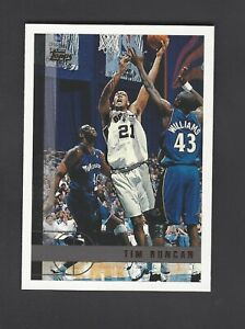 1997-1998 Topps #115 Tim Duncan Rookie Spurs RC HOF Clean Centered 💰