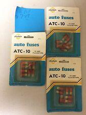 Vintage SET OF (3) Chieftain ATC-10 Auto Fuses 10 AMP PLUG-IN-TYPE