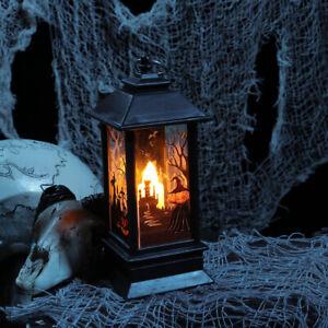 Halloween Simulation Kerosene Lamp Candle Light Lantern Party Props Decor US