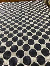 """Vintage inspired Blue & White Polka Dots Double sided Quilt 90"""" x 86"""" queen #210"""