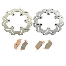 Front Rear Brake Discs Rotors Disks Pads For Suzuki RM 125 250 00-09 RM125 RM250