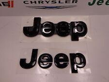 14-16 Jeep Grand Cherokee New Hood & Tailgate Emblems Black Nameplate Mopar Oem