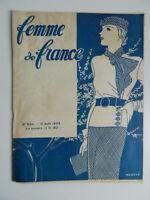 Mujer de France Revista Mensual N º 934 , 2 Abril 1933