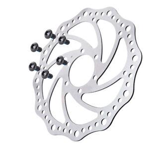 140/160/180/203mm MTB Bike Disc Brake 6 Bolts Rotor Front Rear Brake Rotors UK