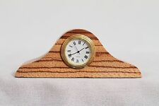 Tom Gall Zebrawood Zebra Wood Miniature Desk Clock