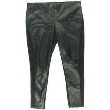 NEW Women LRL Lauren Jeans Co Black Super Stretch Faux Leather Leggings AU 8 W26