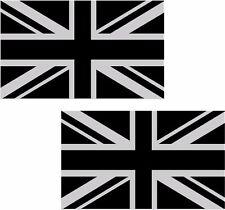 "2 - 5"" Britain Union Jack Subdued Flag Decal SET British Vinyl Sticker great UK"