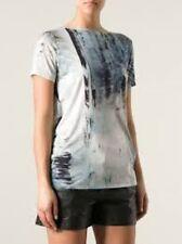 Helmut Lang Tidal Print Jersey Cowl Back Top Ladies SMALL RRP £180 Box1276 j