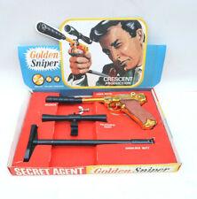 Crescent Toys Golden Sniper Set 007 Secret Agent Superbe Coffret 1966-67