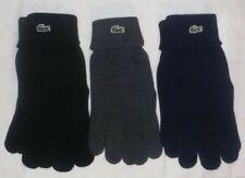 New listing Lacoste Merino Wool Winter Knit Glove Unisex Blue / Black / Gray 1pr.