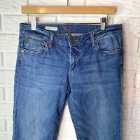 "Kut from the Kloth Women's Jeans Size 6 Catherine Boyfriend Blue Inseam 30"""