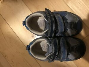 Baby Boy First Clark Shoes 4.5 F Blue