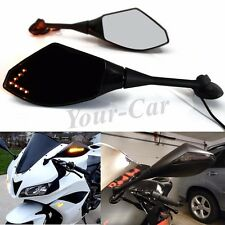 Motorcycle LED Turn Signal Racing Mirrors For HONDA CBR600RR 1000RR 500R 250R US