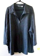 Fashion Bug Womens Jacket Sz 30/32W Full Zippered Front Gray Houndstooth