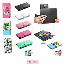 """Universal Cell Phone Cover Leather Flip Wallet Case Camera Slide Size 5.2 - 6.0"""""""