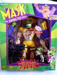 THE MASK ANIMATED SERIES 12 INCH FIGURE WITH MILO MASK AND ALL ORIGINAL WEAPONS