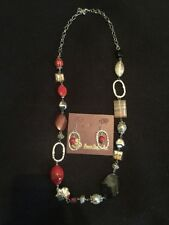 """Premier Designs Ignite Necklace 30"""" w/3"""" extender & Matching Fish Hook Earrings"""
