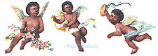 Ceramic Decals African American Cherub Angels 3 Designs